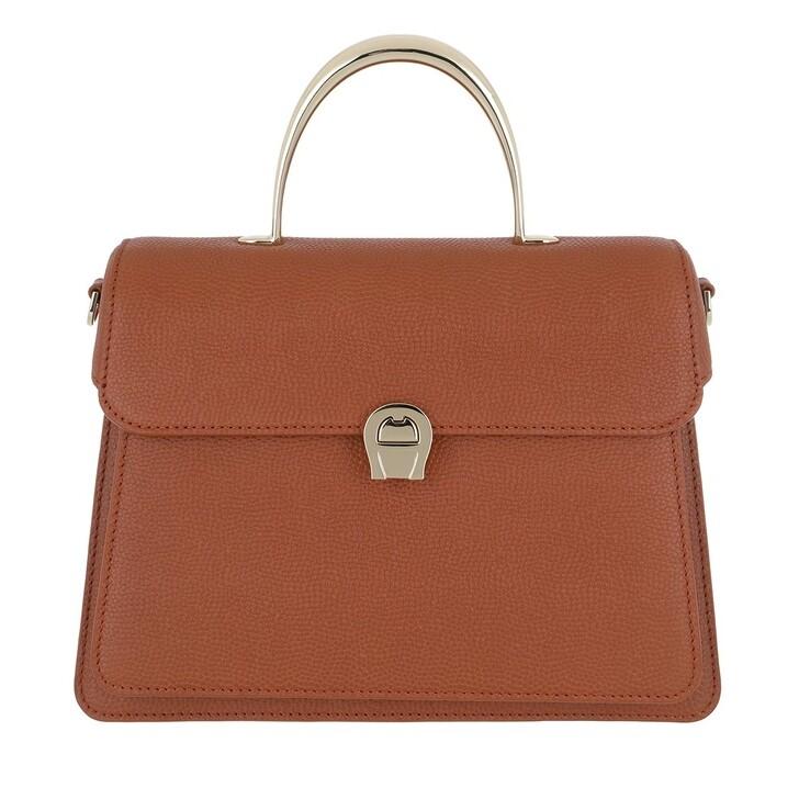 Handtasche, AIGNER, Genoveva Satchel Bag Cognac