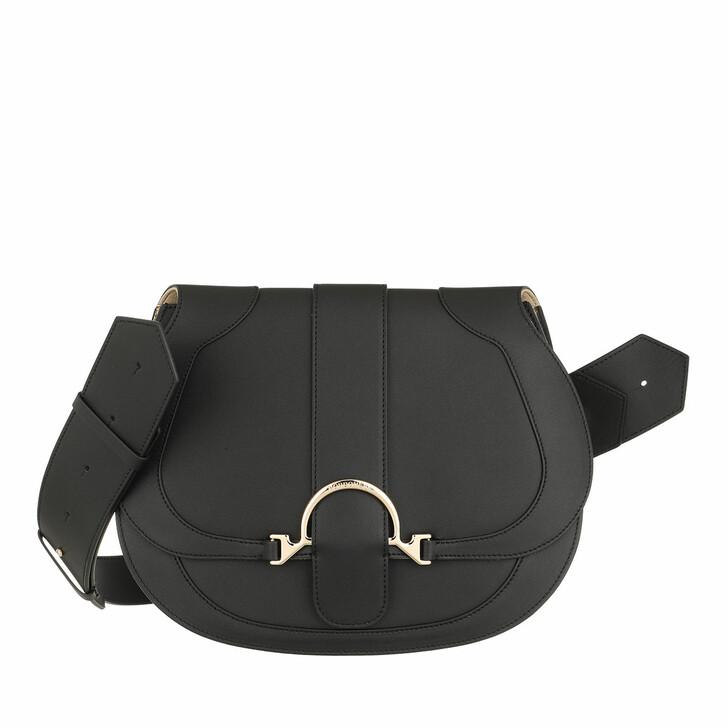 Handtasche, Borbonese, Medium 110 Crossbody Bag Black