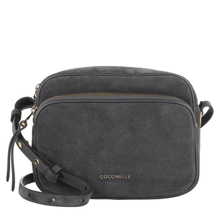 Handtasche, Coccinelle, Handbag Suede Leather Ash Grey