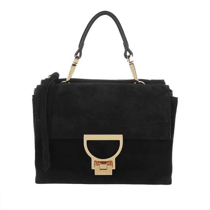 Handtasche, Coccinelle, Arlettis Suede Crossbody Bag Noir