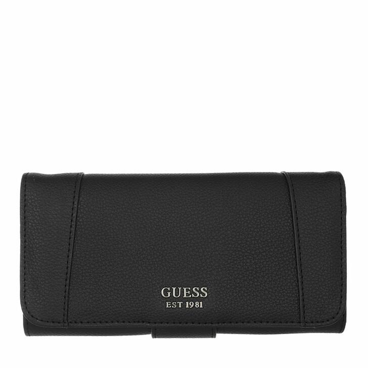 Handtasche, Guess, Naya File Wallet Black