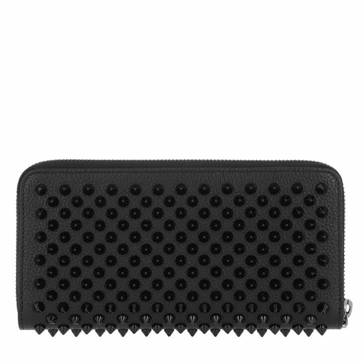 Geldbörse, Christian Louboutin, Panettone Zip-Around Wallet Leather Black/Black
