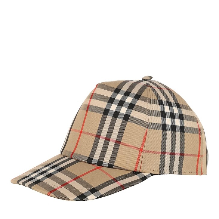 hats, Burberry, Vintage Checked Baseball Cap Archive Beige