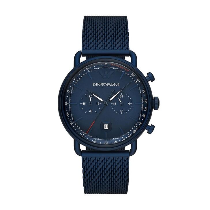 Uhr, Emporio Armani, Men Aviator Watch Blue