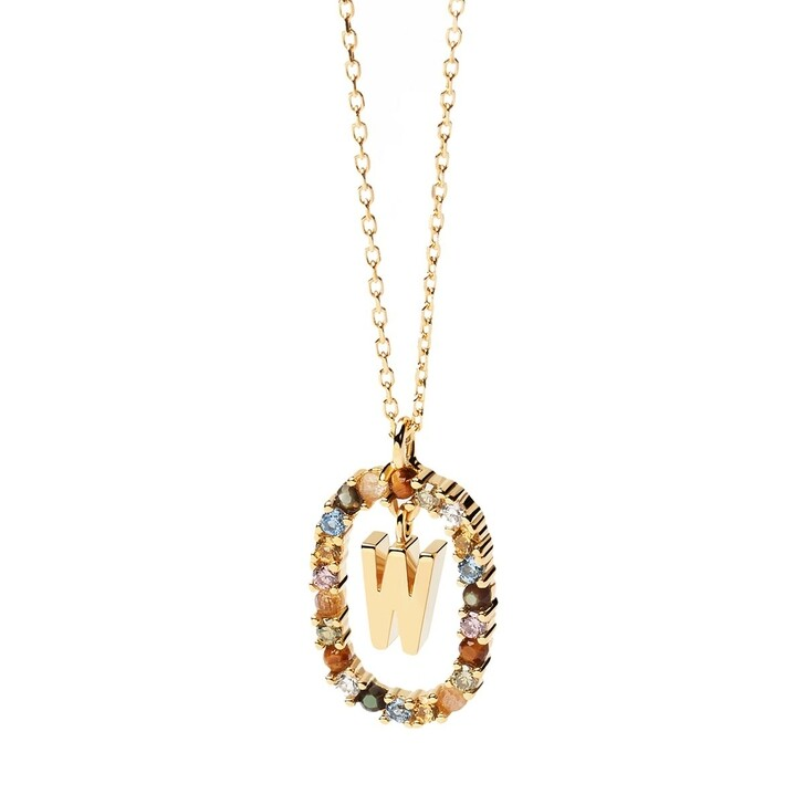 Kette, PDPAOLA, Necklace Letter W Yellow Gold