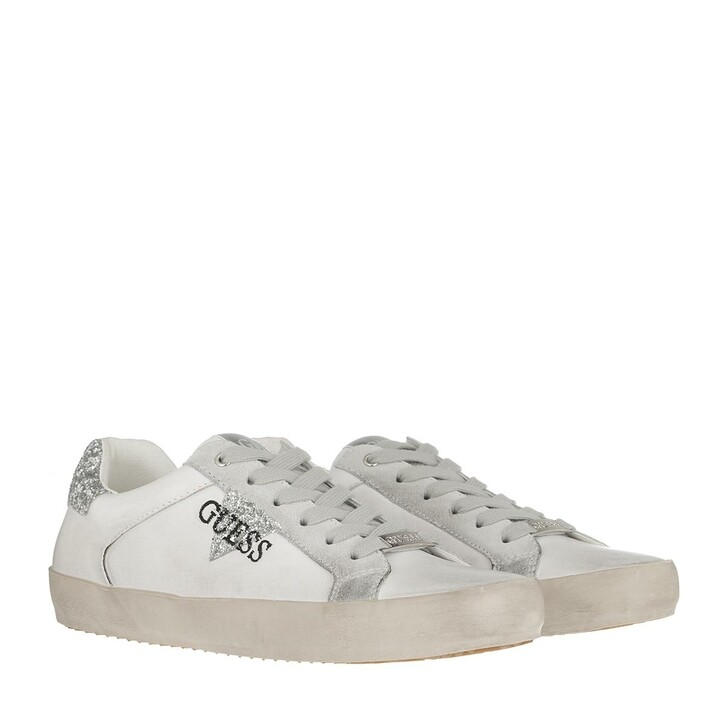 shoes, Guess, Grea Active Sneaker White Silver
