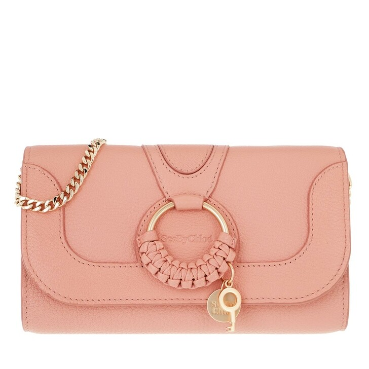 wallets, See By Chloé, Hana Wallet On Chain Fallow Pink