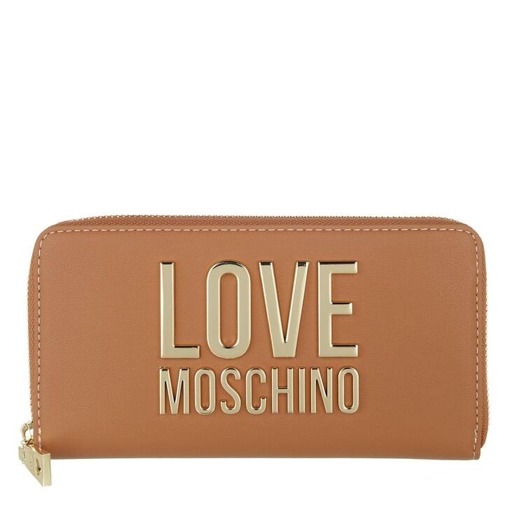 wallets, Love Moschino, Portafogli Bonded Pu  Cammello