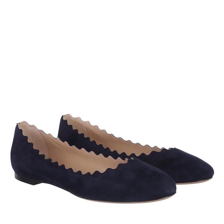 Schuh, Chloé, Lauren Ballerina Velvet Blue Lagoon