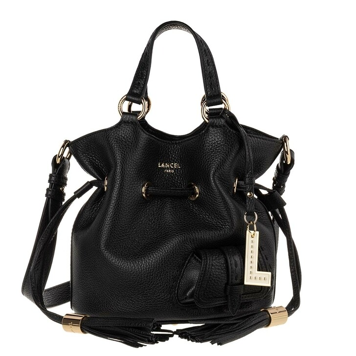 Handtasche, Lancel, Flirt Grained Leather Bucket Bag Small Black