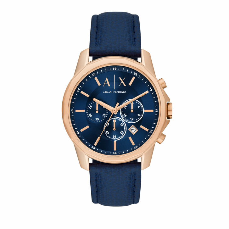 watches, Armani Exchange, Men's Chronograph Stainless Steel Watch AX1723 Rose Gold