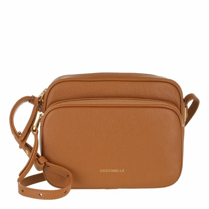 bags, Coccinelle, Handbag Grained Leather  Caramel