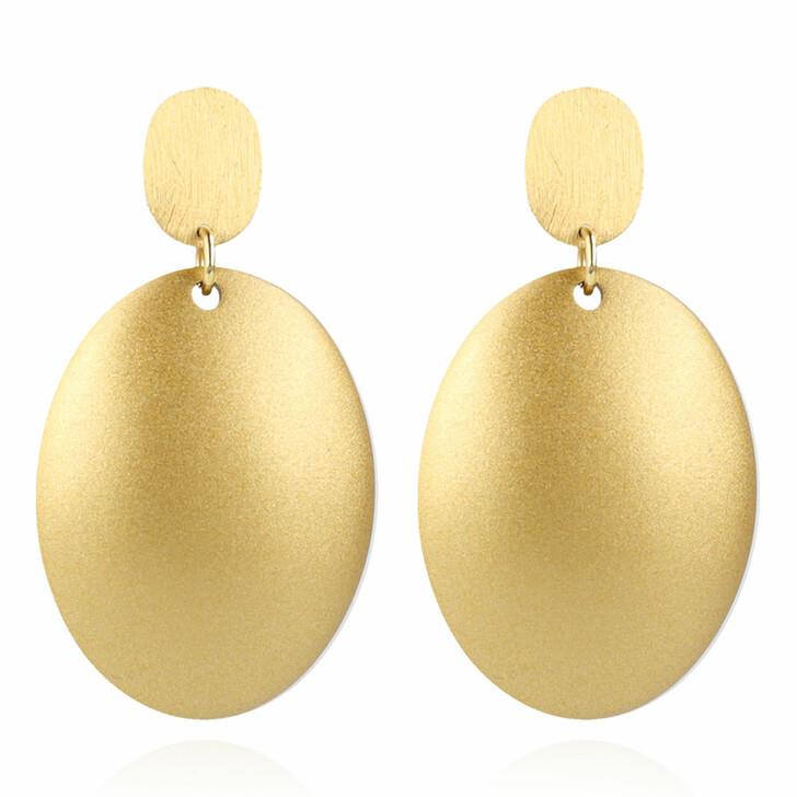 earrings, LOTT.gioielli, Earring Resin Closed Bugle Oval Small Gold