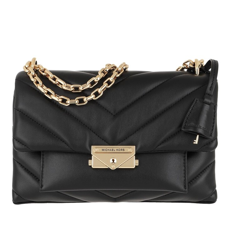 bags, MICHAEL Michael Kors, Cece Md Canvas Chain Shoulder Black