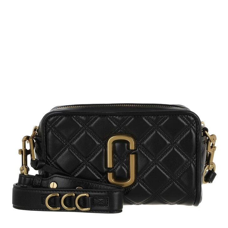 Handtasche, Marc Jacobs, The Soft Shot 21 Leather Black/Gold