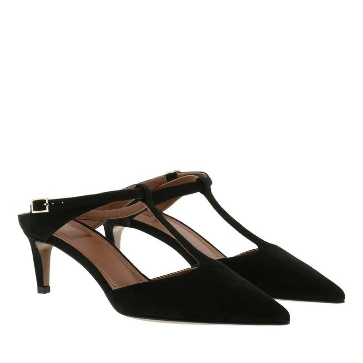 Schuh, L´Autre Chose, Suede Sling Back Heel Black