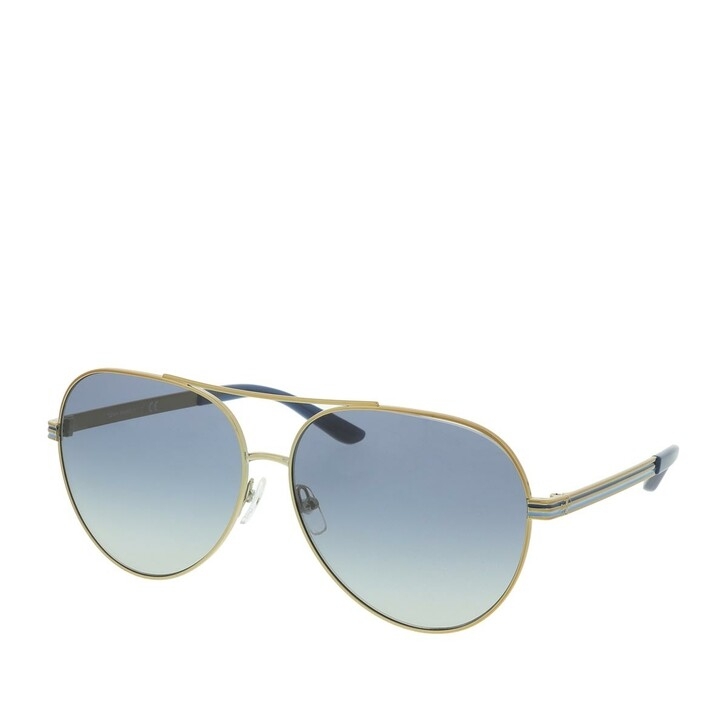 Sonnenbrille, Tory Burch, 0TY6078 329314 Woman Sunglasses Classic Shiny Gold Metal