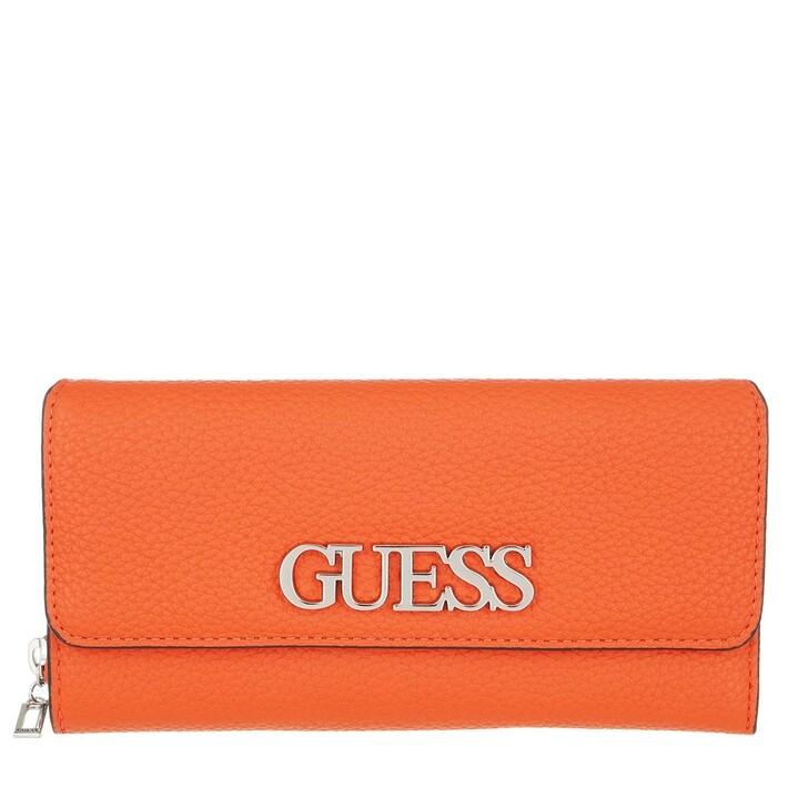 Handtasche, Guess, Uptown Chic Large Clutch Orange