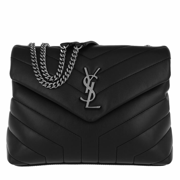 Handtasche, Saint Laurent, LouLou S Shoulder Bag Quilted Leather Black/Black