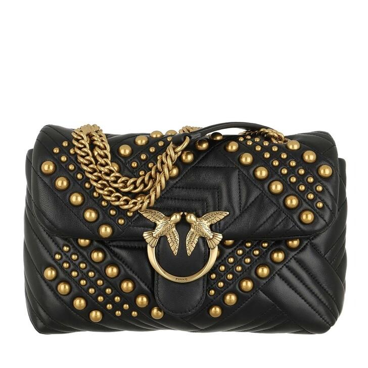 Handtasche, Pinko, Love Classic Puff Woven Studs  Crossbody Black