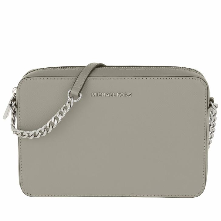 bags, MICHAEL Michael Kors, Large Ew Crossbody Bag Pearl Grey