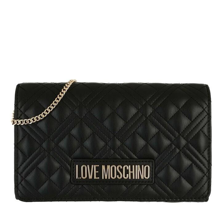 bags, Love Moschino, Borsa Quilted  Pu  Nero