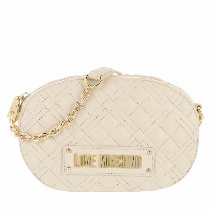 Handtasche, Love Moschino, Borsa Quilted Nappa Pu  Avorio