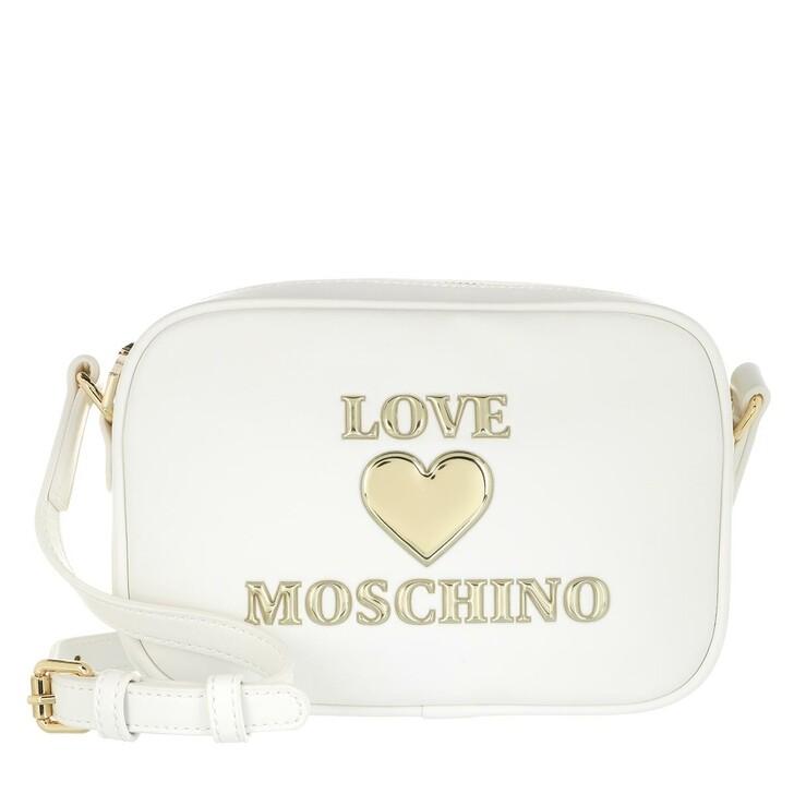 Handtasche, Love Moschino, Borsa Pu  Bianco