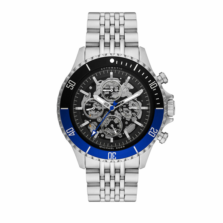 watches, Michael Kors, Men's Bayville Automatic Chronograph Stainless Ste Silver