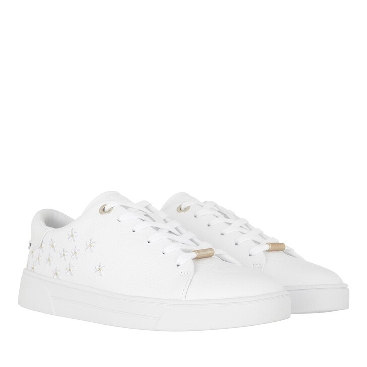 Schuh, Ted Baker, Adial Metropolis Embroidered Cupsole Trainer White