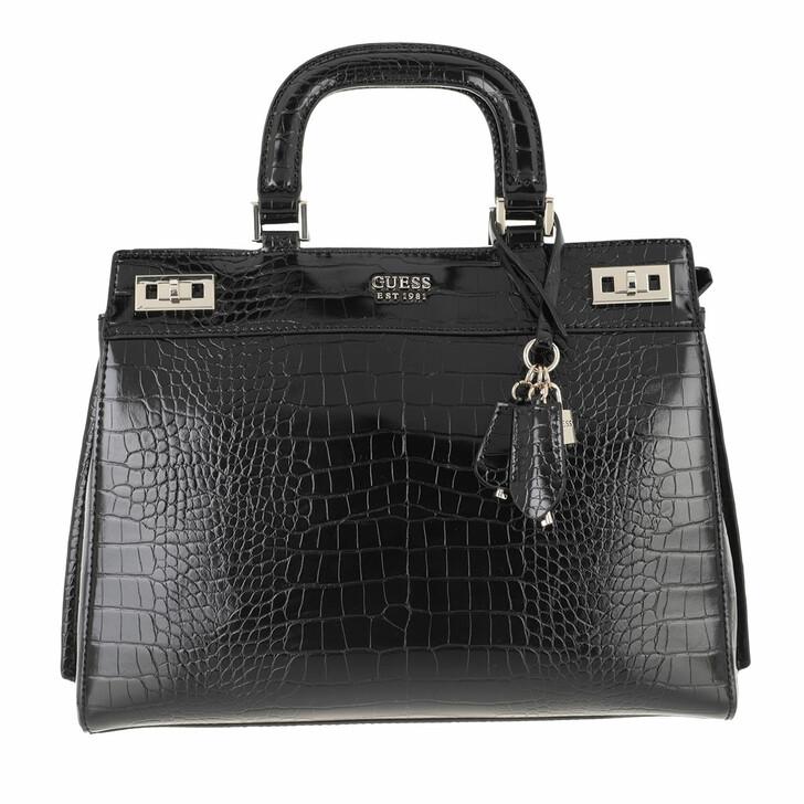 bags, Guess, Katey Luxury Satchel Black