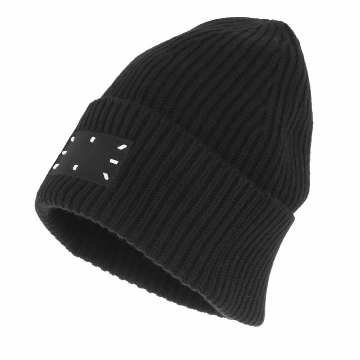 hats, McQ, Ic0 Beanie Darkest Black