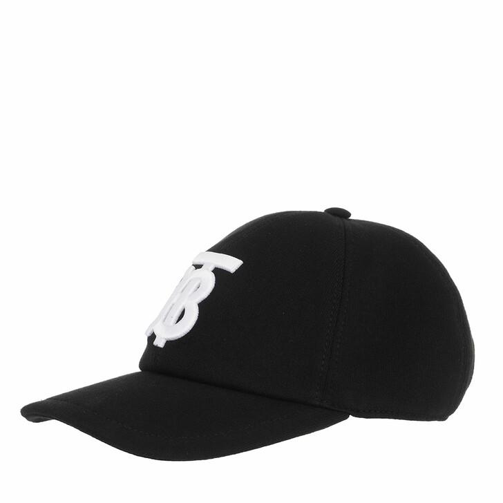 Mütze, Burberry, Jersey Baseball Cap Black/White