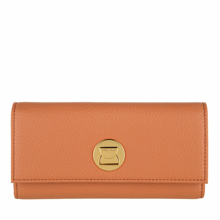 wallets, Coccinelle, Liya Wallet Grainy Leather  Chestnut