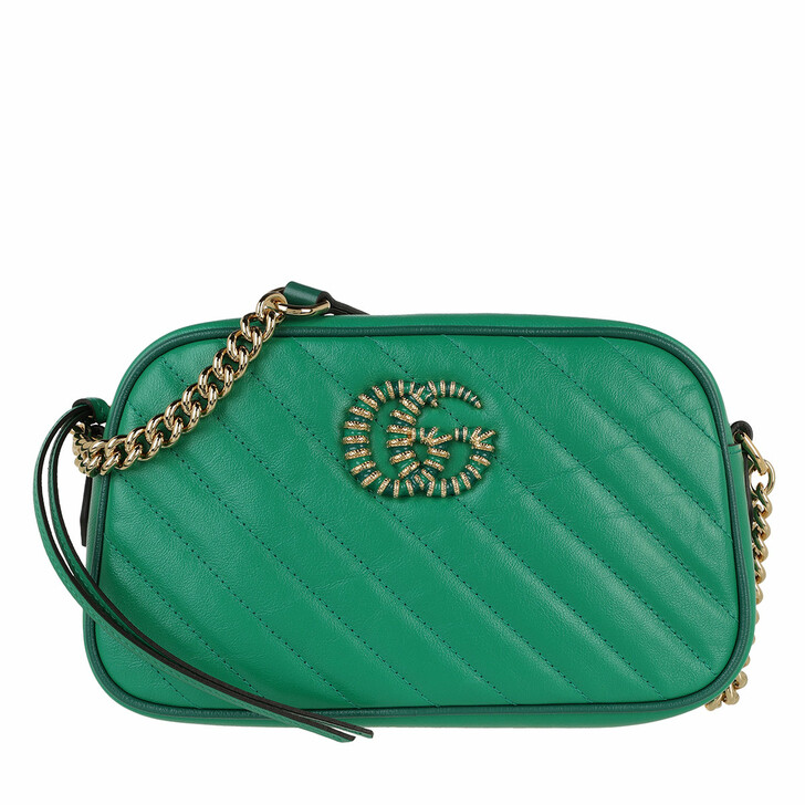 bags, Gucci, Small GG Marmont Shoulder Bag Green