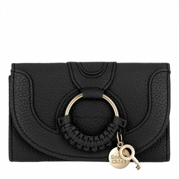 Geldbörse, See By Chloé, Hana Wallet Leather Black