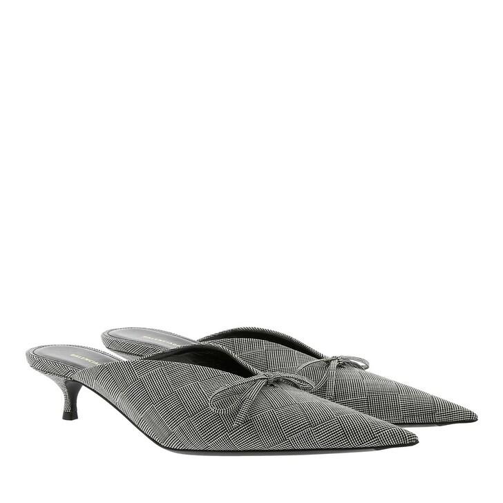 Schuh, Balenciaga, Knife Mules Check Tailoring Grey