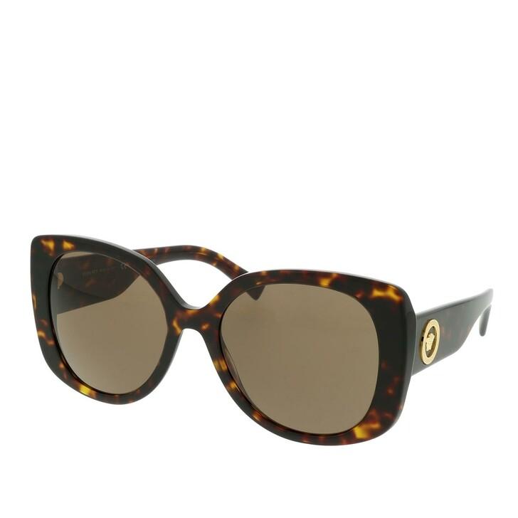 sunglasses, Versace, 0VE4387 108/73 Woman Sunglasses Rock Icons Dark Havana