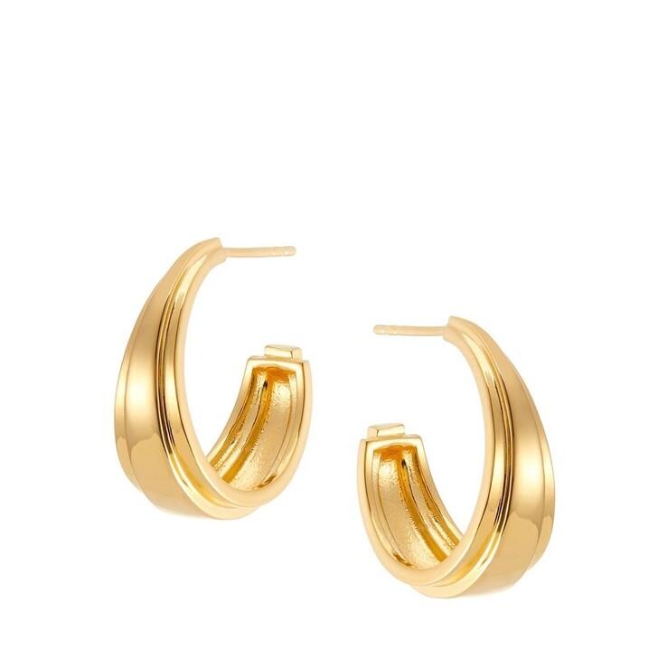Ohrring, V by Laura Vann, Angelina Chunky Medium Hoop Earrings Yellow Gold