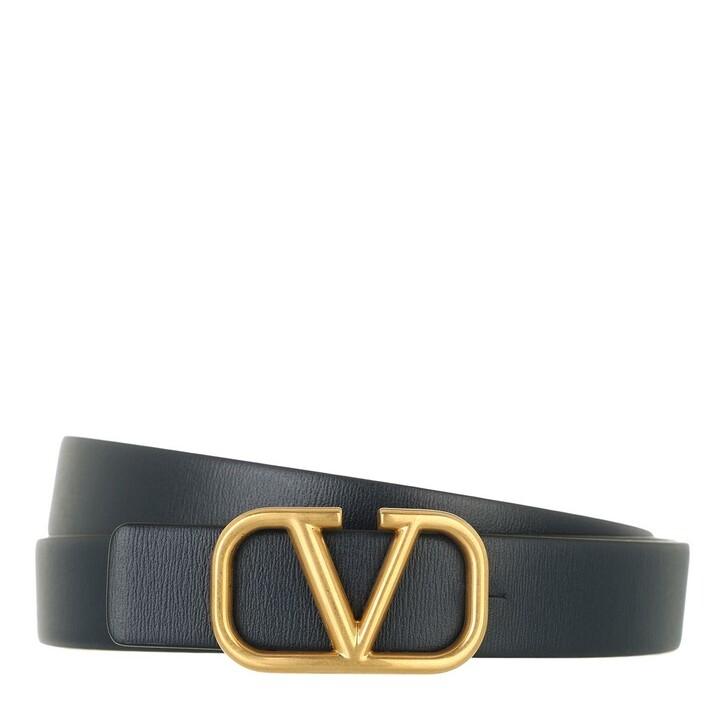 belts, Valentino Garavani, Reversible VLogo Signature Belt Marine