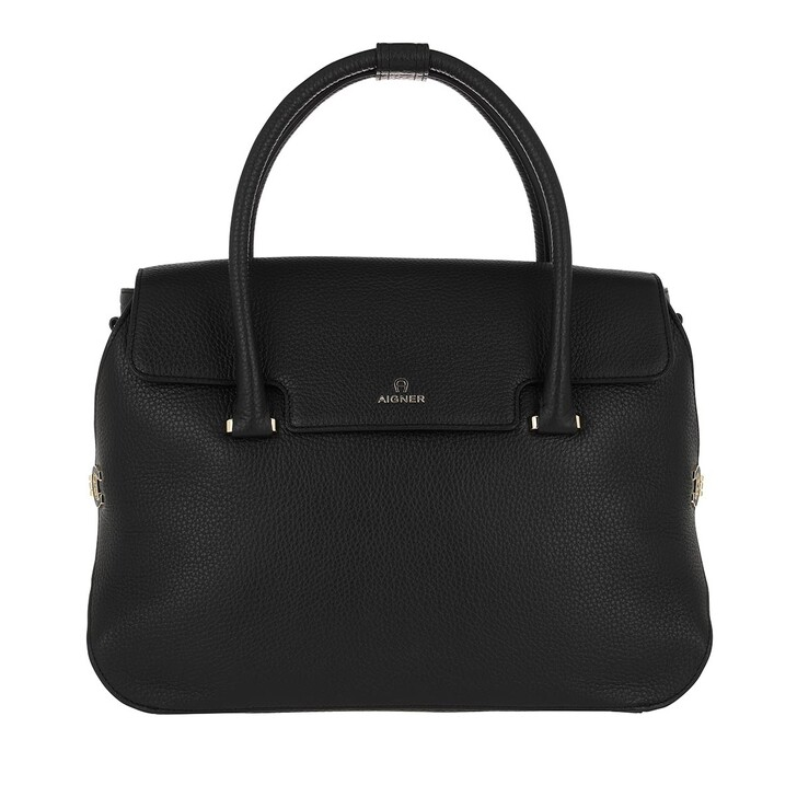 Handtasche, AIGNER, Milano Handle Bag Black