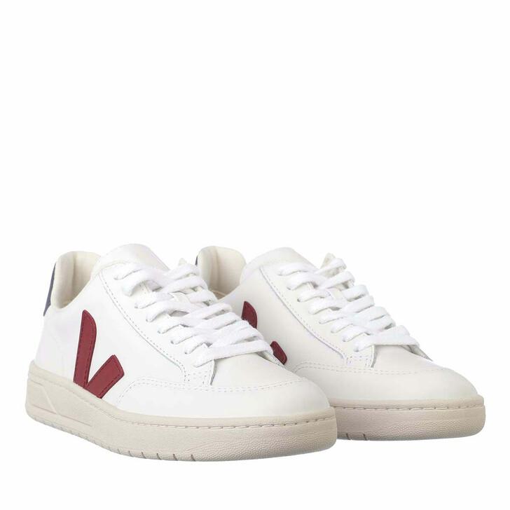Schuh, Veja,  V-12 Leather Extra White Marsala Nautico