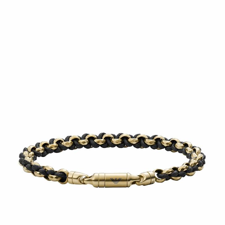 Armreif, Emporio Armani, Men Antique Chain-Link Bracelet Yellow Gold