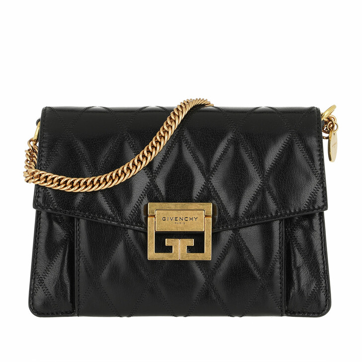 Handtasche, Givenchy, Small GV3 Bag Diamond Quilted Leather Black