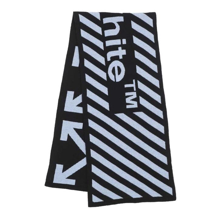 scarves, Off-White, Arrow Scarf  Black White