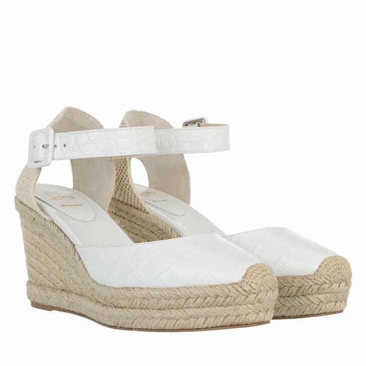 shoes, Christian Louboutin, Amelina Espadrille Wedges White