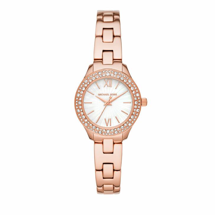 watches, Michael Kors, Liliane Three-Hand Stainless Steel Watch Rosegold
