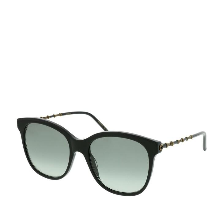Sonnenbrille, Gucci, GG0654S-001 56 Sunglasses Black-Gold-Grey