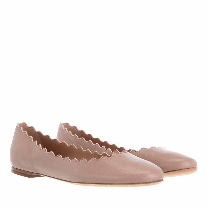 Schuh, Chloé, Lauren Ballerinas Leather Pink Tea