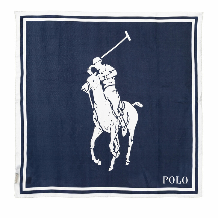Schal, Polo Ralph Lauren, Giant Square Scarf Cruise Navy Multi